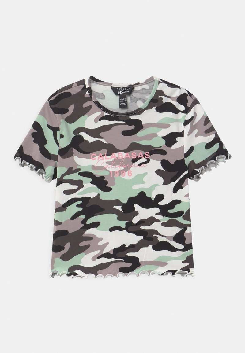 New Look 915 Generation - CAMO CALABASA - Print T-shirt - khaki