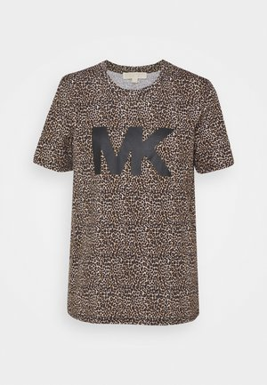 Print T-shirt - dark camel