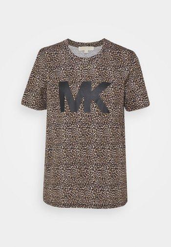 T-shirt con stampa - dark camel