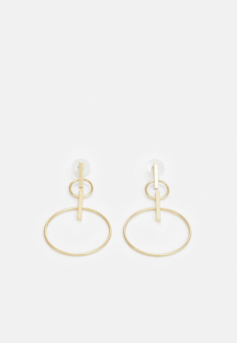 SNÖ of Sweden - CARLO BIG PENDANT EAR PLAIN - Earrings - gold-coloured