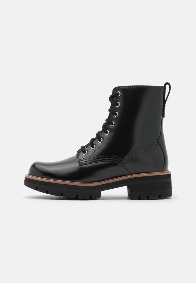 ORIANNA HI - Bottines à lacets - black
