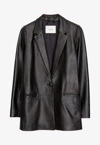 Uterqüe - Leather jacket - black - 6