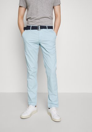 BELTED LIGHT WEIGHT - Chinos - dream blue