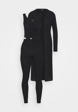 3PC SET - Pantalon de survêtement - black