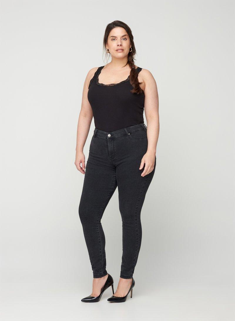 Zizzi - Jeans Skinny Fit - grey