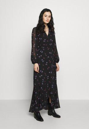 VNECK WRAP - Robe longue - black/floral
