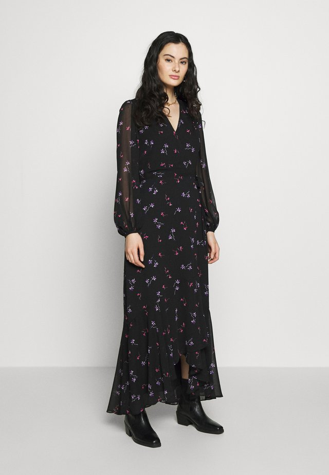 VNECK WRAP - Maxi dress - black/floral