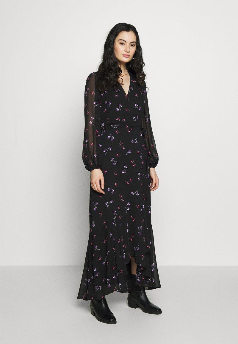 Banana Republic - VNECK WRAP - Vestito lungo - black/floral