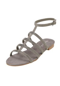 Marc O'Polo - MIT PERLEN-STICKEREI - Sandals - dark grey - 3
