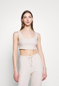 Topshop - COSY BRUSHED SET - Tracksuit bottoms - stone - 2