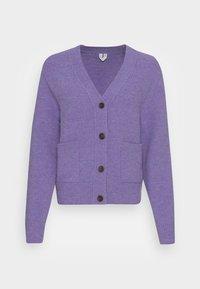 Kardigan - purple melange