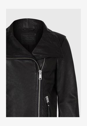 ELLIS - Leather jacket - black