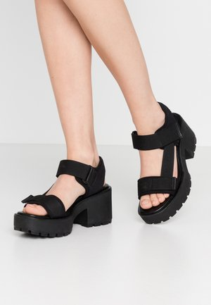 DIOON - Sandály na platformě - black