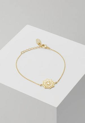 PRETTY FILIGREE DISK CHAIN BRACELET - Armbånd - gold-coloured