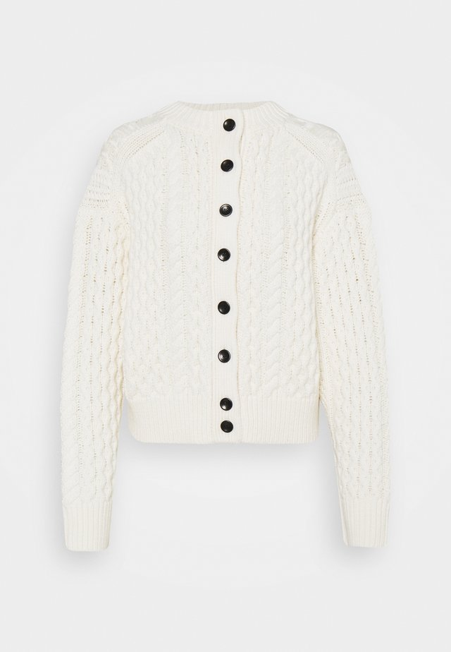 CABLE BUTTON BACK - Cardigan - ivory