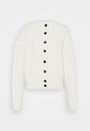CABLE BUTTON BACK - Chaqueta de punto - ivory