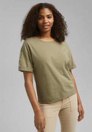 ICONIC - Basic T-shirt - light khaki
