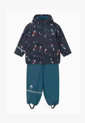 RAINWEAR SET - Rain trousers - ice blue