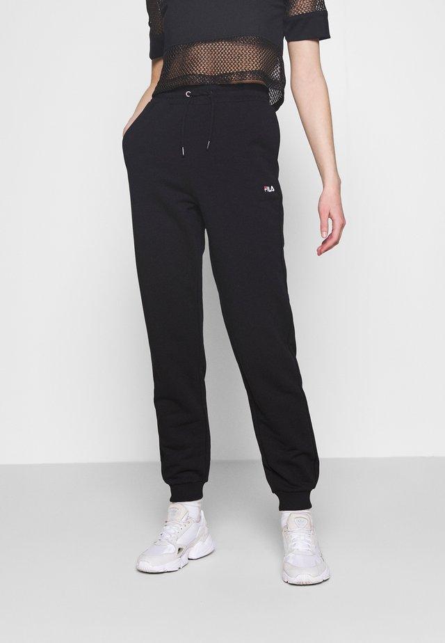 EDENA HIGH WAIST PANTS - Teplákové kalhoty - black