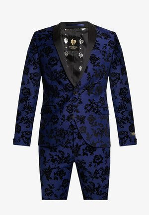 FRAN FLORAL FLOCK SUIT - Costume - bright blue