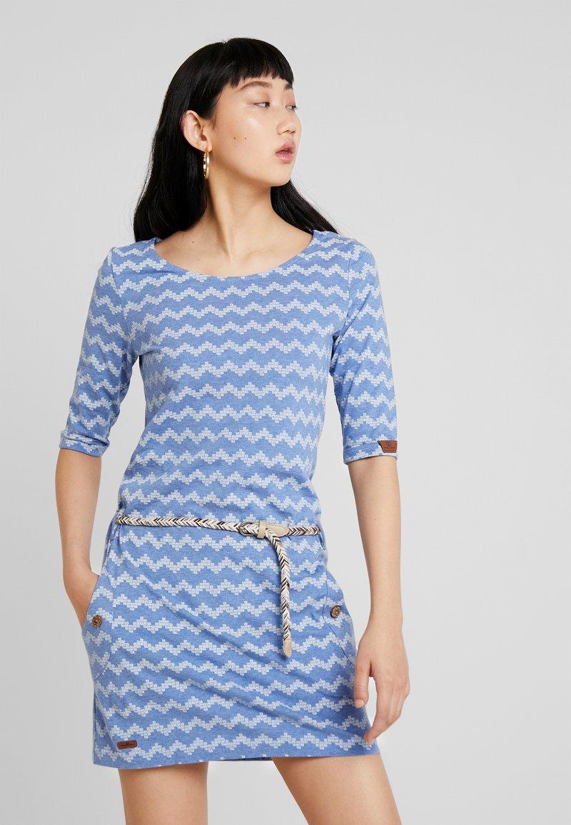 Ragwear - TANYA ZIG ZAG - Jersey dress - blue