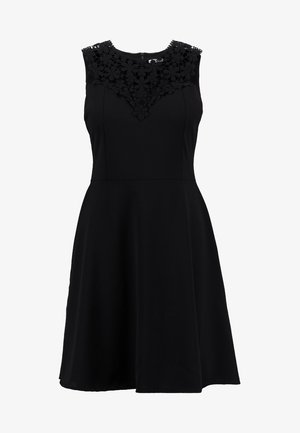 BUST SKATER DRESS - Vestito elegante - black