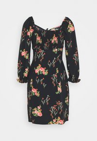 Glamorous Tall - LADIES DRESS FLORAL MINI - Korte jurk - black/pink - 1