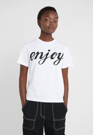 BAND TEE - Print T-shirt - optic white