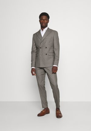 HOUNDTOOTH CROPPED SUIT - Traje - dark sand