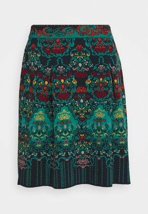 SKIRT FLORAL PATTERN - A-line skirt - navy