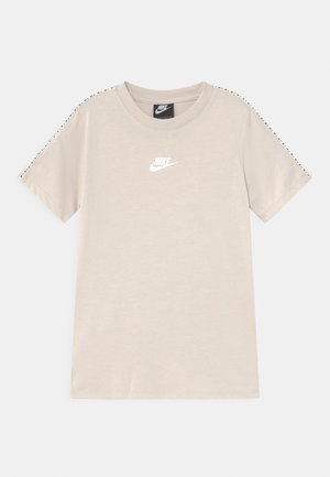 REPEAT - T-shirt imprimé - desert sand/white