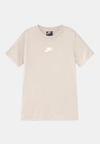 REPEAT - Print T-shirt - desert sand/white