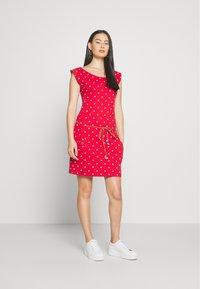 Ragwear - TAG DOTS - Jersey dress - red - 1