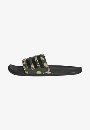 ADILETTE COMFORT UNISEX - Pool slides - olive/dark brown