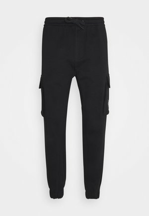 BADGE PANT - Cargo trousers - ck black