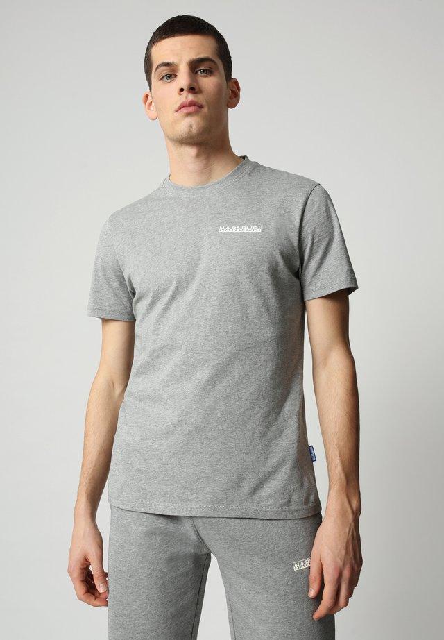 S SURF - T-shirt med print - medium grey melange