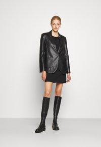 Patrizia Pepe - JACKETS - Faux leather jacket - nero - 1