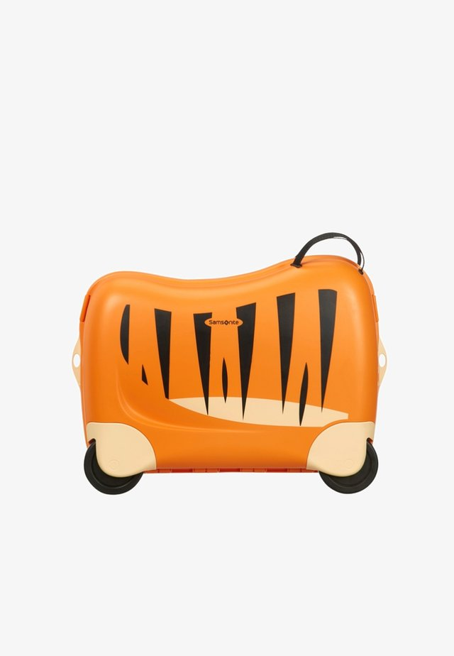 ZUM DRAUFSITZEN - Wheeled suitcase - orange