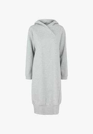 Korte jurk - light grey melange
