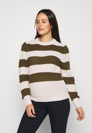 OLMNICA PUFF - Sweter - pumice stone