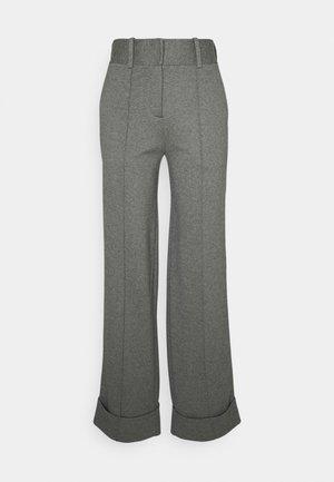 WIDELEG TAILORED PANTS - Bukse - dark grey melange