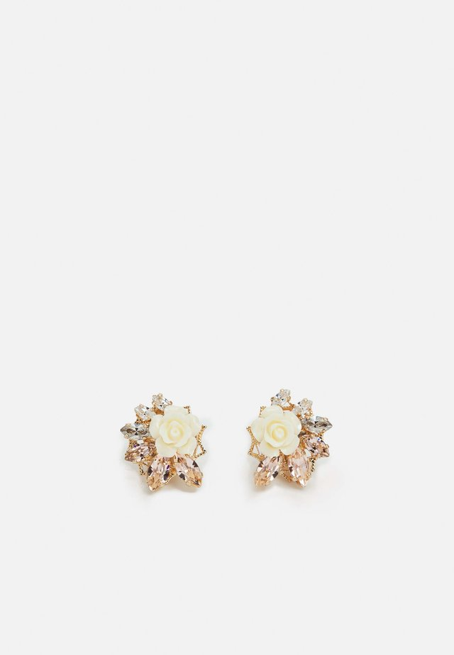 OMEGA CLASP SMALL FLOWER CLUSTER - Oorbellen - cream