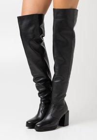 ASRA - KAT - Kotníková obuv na vysokém podpatku - black - 0