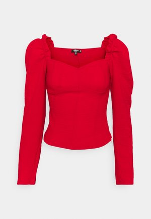 FRILL SHOULDER MILKMAID  - Bluser - red