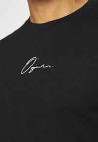 Jack & Jones - JORSCRIPTT TEE CREW NECK - Print T-shirt - black - 4