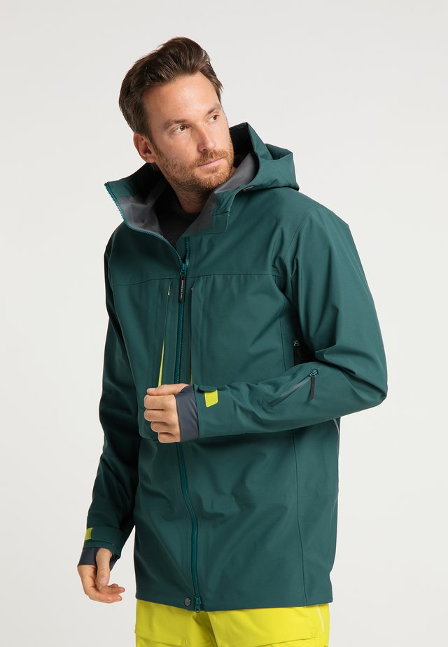 Waterproof jacket - dark moss green