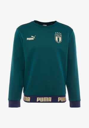 ITALIEN FIGC CULTURE CREW SWEATER - Sweatshirt - ponderosa pine/gold