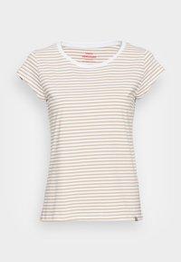 ORGANIC FAVORITE STRIPE TEASY - Print T-shirt - white/kelp