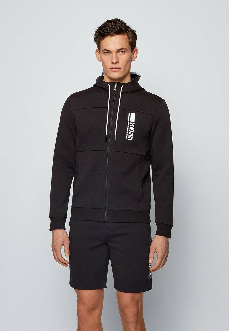 BOSS - SAGGY - Zip-up hoodie - black