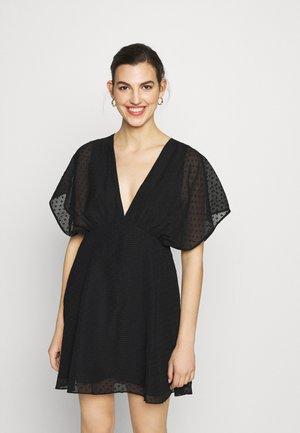 VAAL SHORT DRESS - Freizeitkleid - black